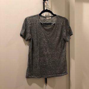 LNA Cut Out Heathered Tee